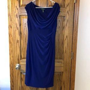 Ralph Lauren Scoop Neck Short Sleeve Dress